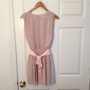 A/X Armani Exchange Dresses - A/X Armani Exchange Dress Soft Pink Cheetah Print